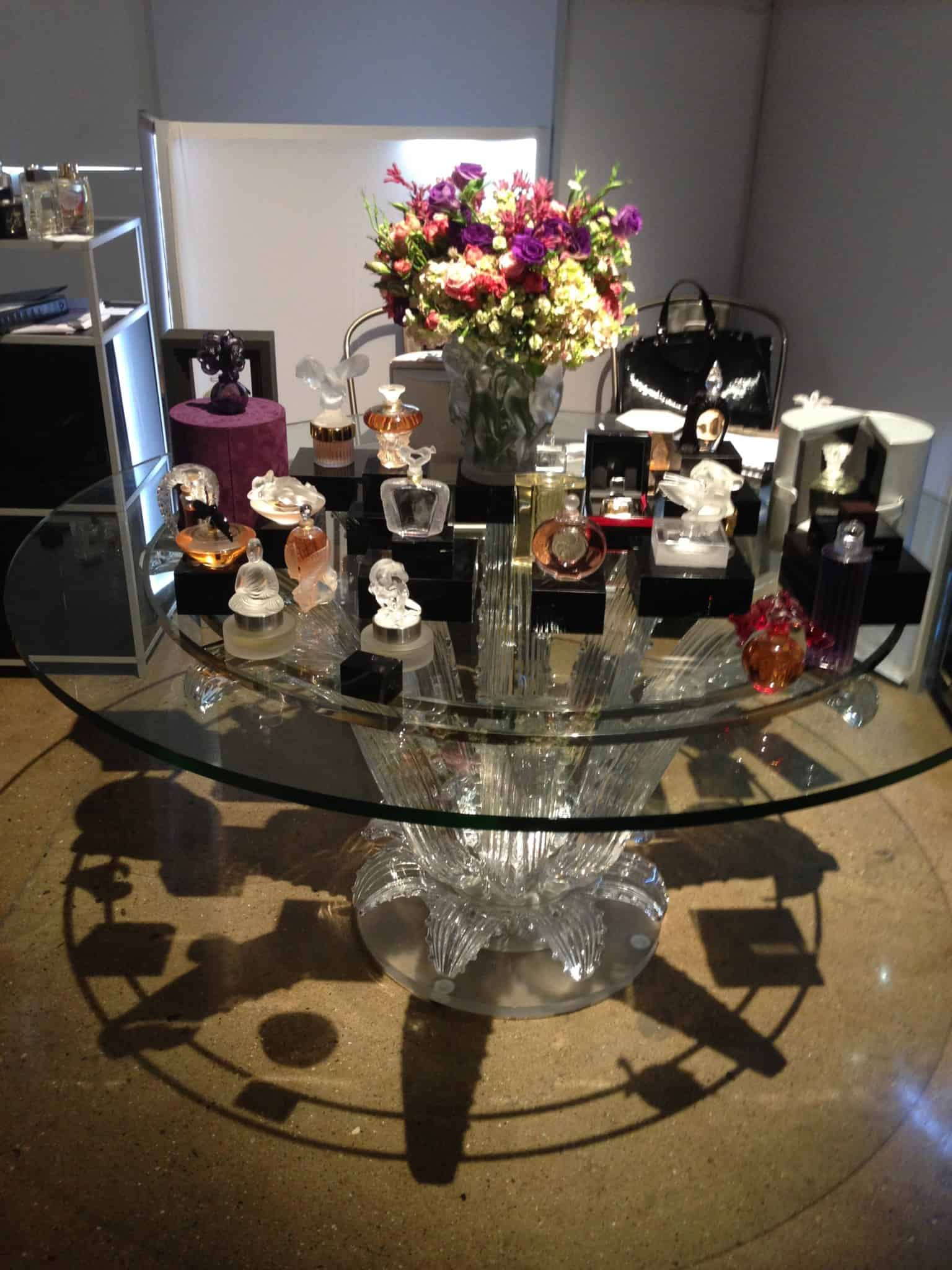 Lalique Parfums crystal table