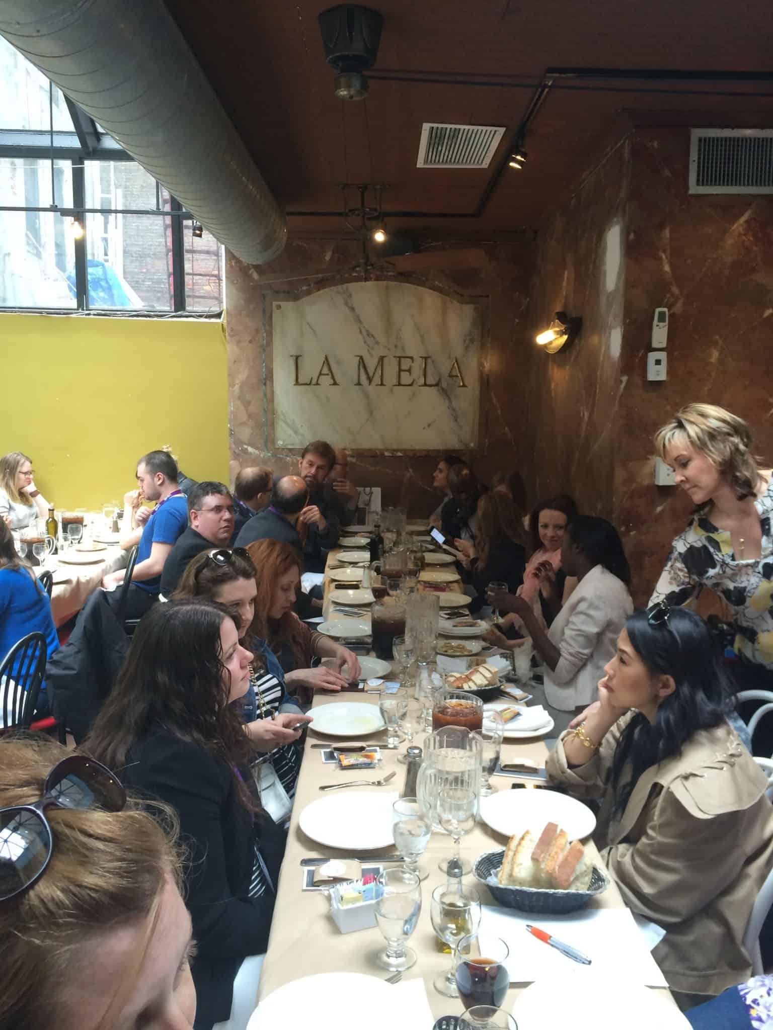Lunch at La Mela