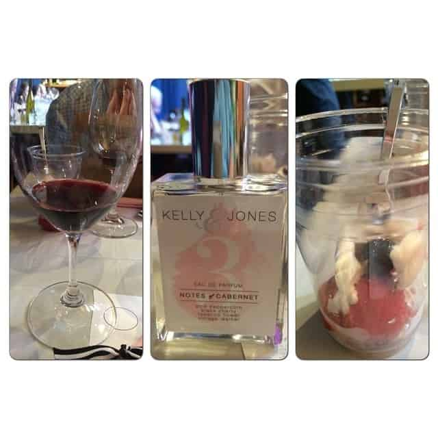 Wine: Justin Vineyards Obtuse Port Fragrance: Notes of Cabernet Confection: Raspberry Pink Peppercorn Sorbet & Vanilla Gelato with an Italian Luxardo Maraschino Cherry