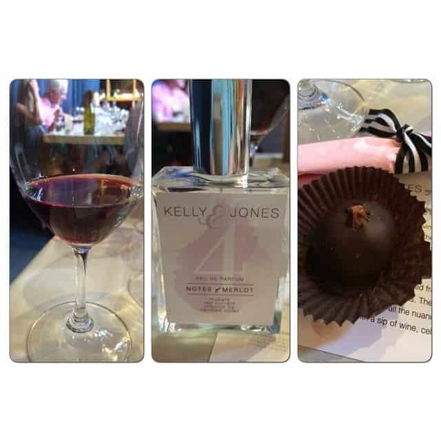 Wine: 2011 Wolffer Estates Merlot Fragrance: Notes of Merlot Candy: Chocolate Ganache Filled Fig, Dipped in Dark Belgian Chocolate