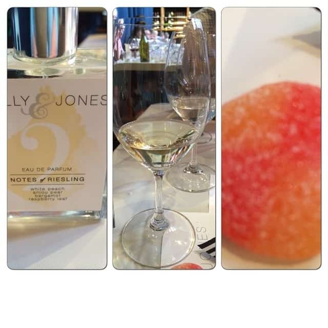 Wine: 2012 Kimich Riesling Kabinett Perfume: Notes of Riesling Candy: Fresh Peach Sanded Gummy