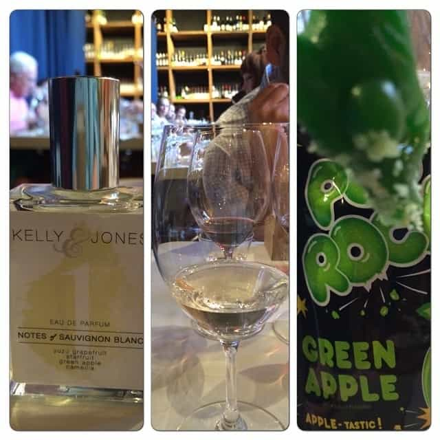 Wine: 2013 Kato Vineyards Sauvignon Blanc Perfume: Notes of Sauvignon Blanc Candy: Green Apple Army Man & Pop Rocks