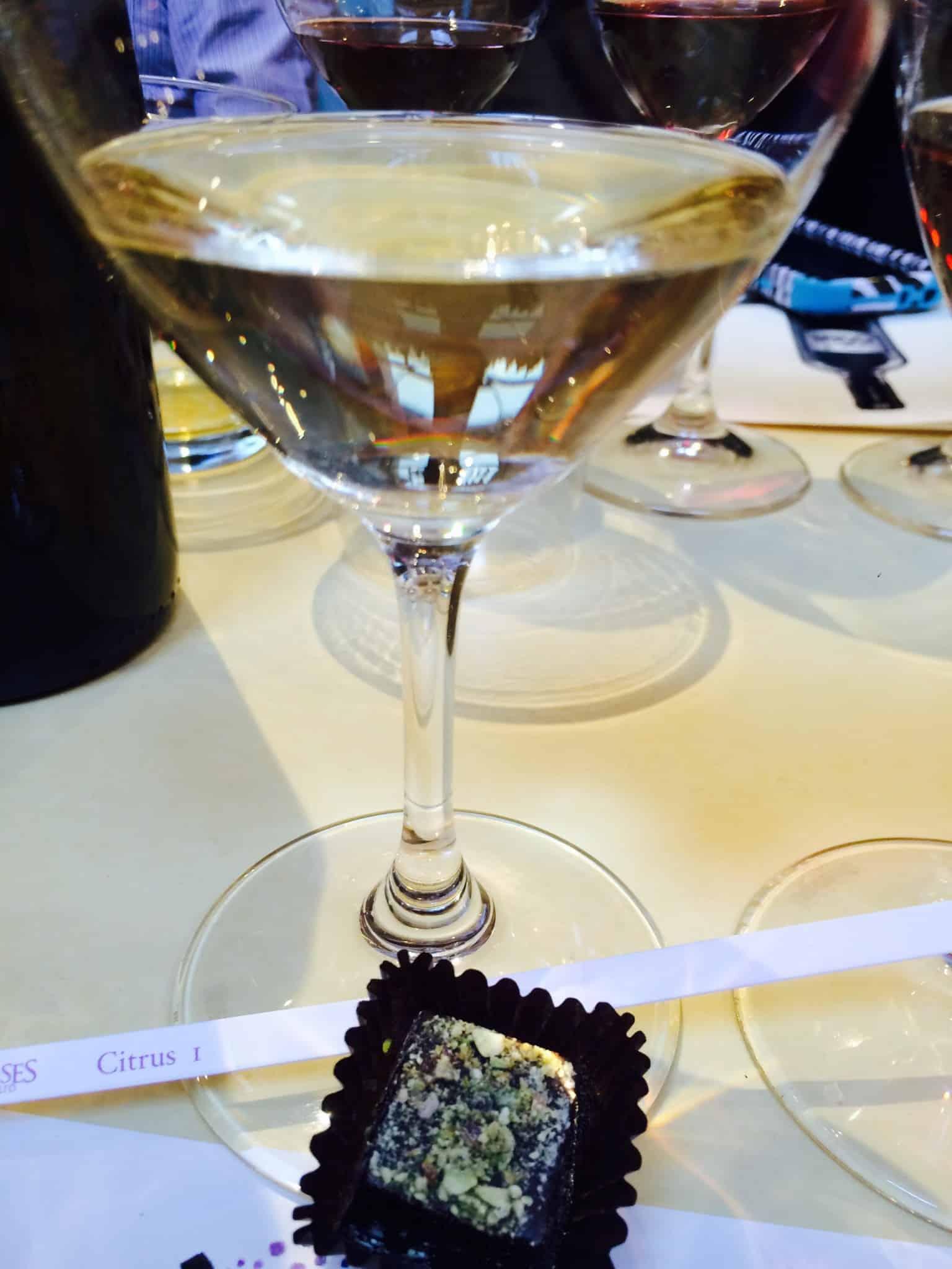Chocolate: Lemon Pistachio Scent: Citrus Blend Drink: Pajzos Antaloczy Cellars 2012 Furmint Tokaji