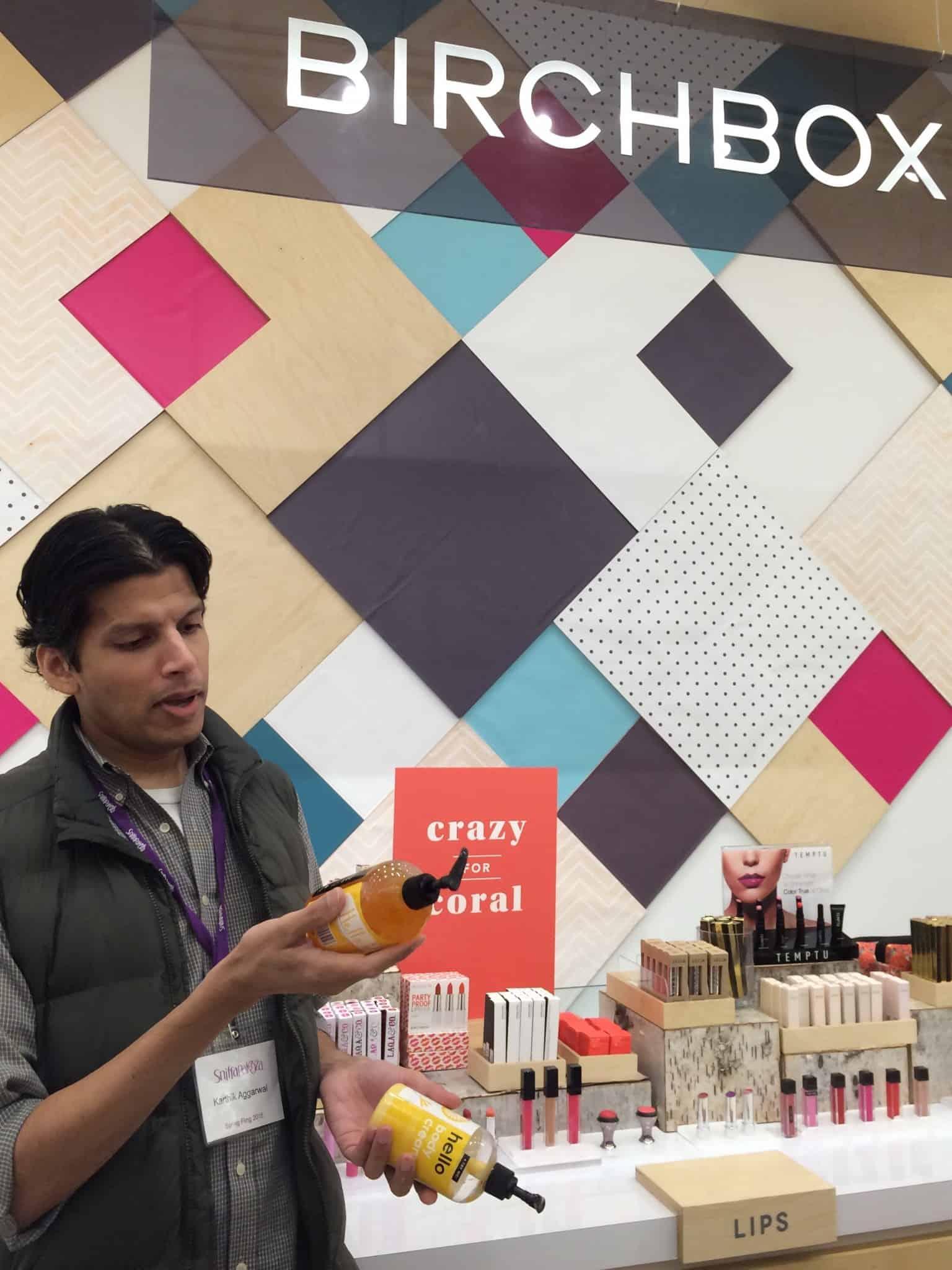 Karthik Agarwal of Harvey Prince introduces Hello at Birchbox Soho