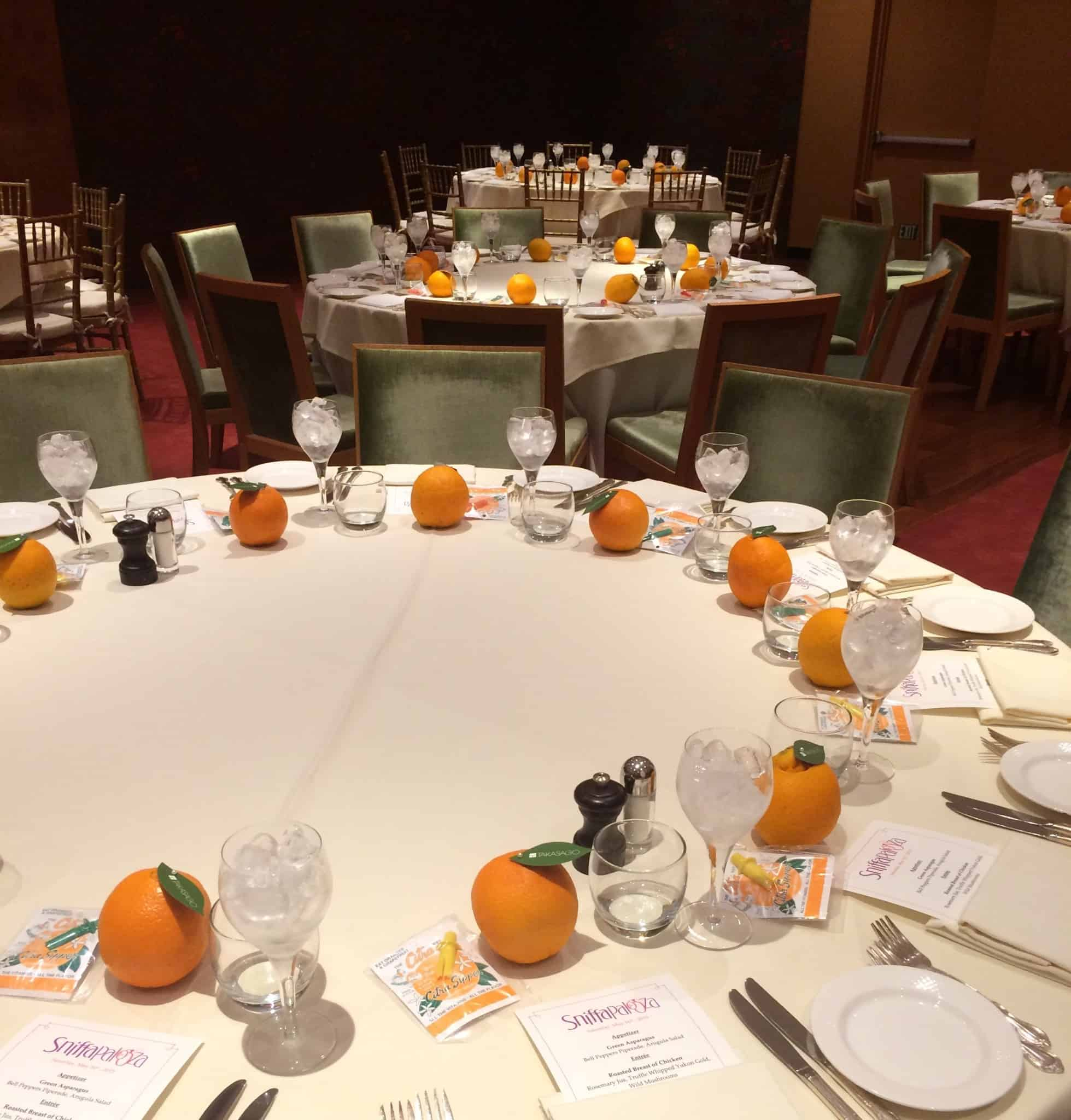 All set for our Brasserie 8 1/2 Luncheon!